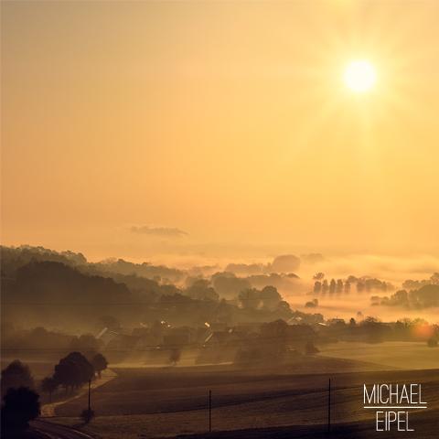 Sonnenaufgang bei Nebel über Zirgesheim / Donauwörth – Landschaftsfotografie
