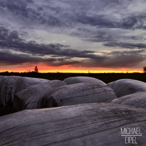 Sonnenuntergang auf dem Land – Landschaftsfotografie