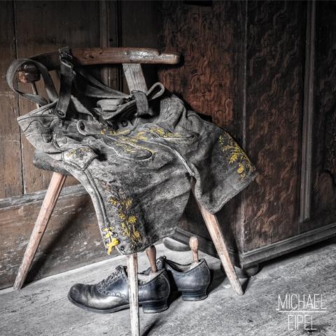 Alte bayerische Lederhose – Stilllife
